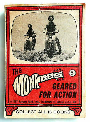 "DAUMENKINO "" THE MONKEES "" GEARED for ACTION von 1967 Book MICKY Flip"