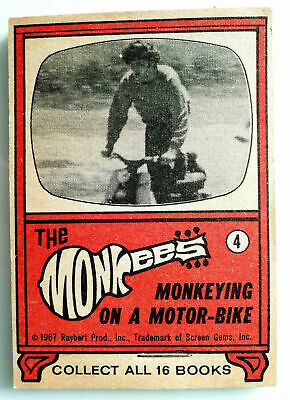 "DAUMENKINO "" THE MONKEES "" MONKEYING on a MOTORBIKE "" von 1967 Book PETER Flip"