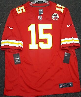ebbb41a1ed1 Kansas City Chiefs Patrick Mahomes Mens Nike Game Jersey #15 Authentic Nfl  Nwt