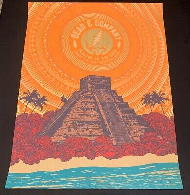 Dead and & Company Poster Mexico Playing in the Sand 2019 A/P X/100 Helton