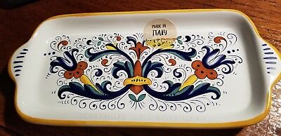 Deruta Nova Oblong Serving Dish Made In Italy Nwt Retail $70-$150