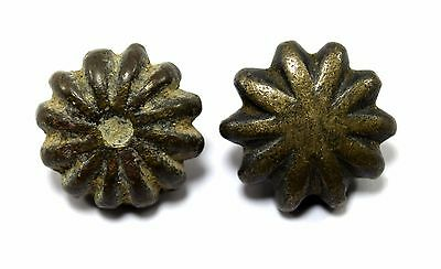 Pair Of Antique Solid Bronze Weight Scales Unique Shape Collectible. G15-135 US