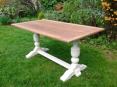 Beautiful Oak Dining Table Painted Annie Sloan Shabby Chic