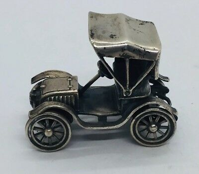 Vintage 925 Sterling Silver Classic Car Miniature