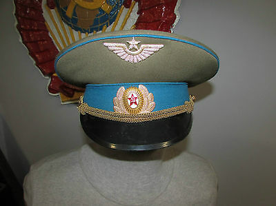 Russian soviet cap hat officer army Air Force badge cap uniform USSR Military