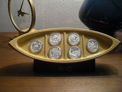 2015 Canoe Across Canada Pure Silver Coin Set 6 Coins total 99.99% Solid silver