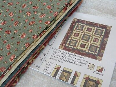 FANCY THAT QUILT Kit Featuring Thimbleberries for RJR Fabrics 24x24""