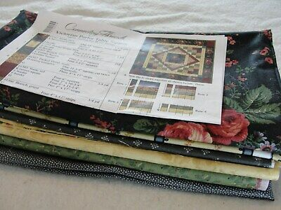 """VICTORIAN PARLOR TABLE SQUARE Quilt Kit Connecting Threads 48x48"""""""