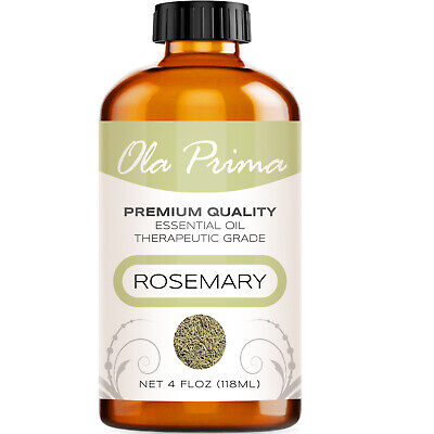 Rosemary Essential Oil - Multiple Sizes - 100% Pure - Amber Bottle + Dropper