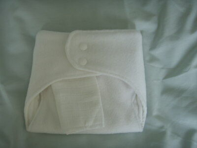 NEW Made in UK Med Shaped fitted Nappy Bamboo/Zorb/Bamboo~13lb av. fleece back