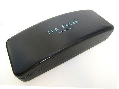 TED BAKER LONDON sunglasses hard case, black leather-look, VGUC