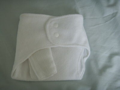 NEW Made in UK Med Shaped fitted Nappy Snap fasten Zorb~13lb aver. fleece back