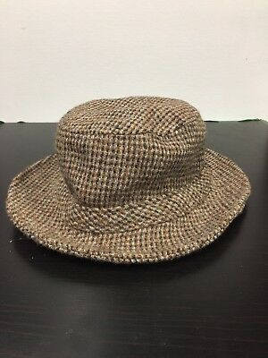 newest a6b67 a3002 LL Bean Harris Tweed Hand Woven 100% Scottish Wool Gore-tex Hat, Size