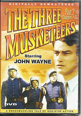 The Three Musketeers: Part 2 Chapters 7-12; Slim Case; DVD; John Wayne ~ NEW