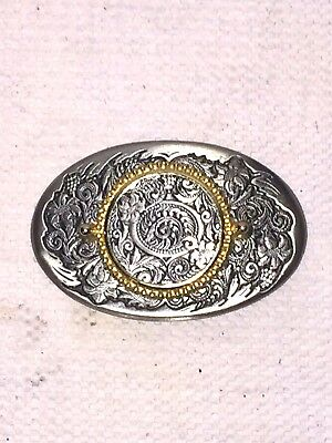 The Great American Buckle company Coin Holder Belt Buckle 1984