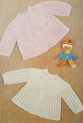 Vintage Knitting Pattern For Baby's Cardigans