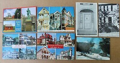 Lot of 7 vintage Architectural Post Cards San Fran,NJ,RI,MA Wonderful Collection