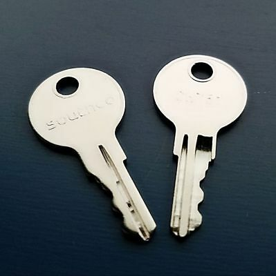 Southco Boat Keys Code Cut to 801 to 860 Cabin replacement Lock Key 2 Mobella