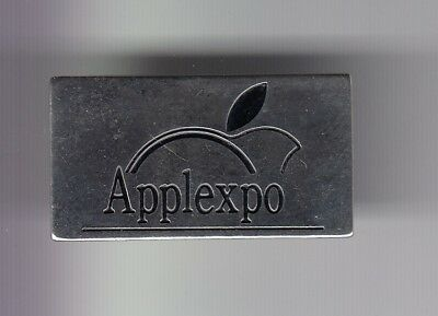 Rare Pins Pin's .. Informatique Pc Computer Apple Expo 1990 1991 France Or ~Dw