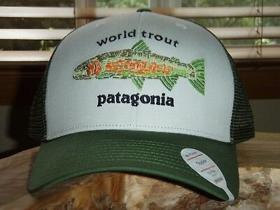 e74fbc11 PATAGONIA WORLD TROUT Fishstitch White Trucker Hat - $50.00 | PicClick