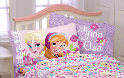 826d7c36b26 New Kids Girl s Disney Frozen Anna Elsa Pillowcase Micofiber Reversible