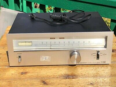 Vintage Pioneer TX-6500 Stereo Tuner, excellent condition with original booklet
