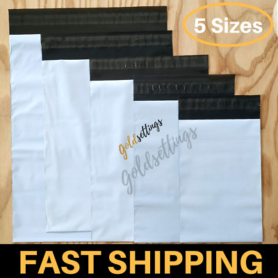 100-10 MIX Poly Mailers Envelopes Bags Set 2.5 Mil Thick Shipping Mailing Pouch