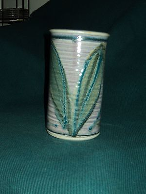 Robin Hopper and Chosin Pottery of Canada Stamped Pottery Vase