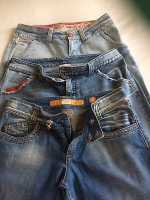 LOTTO N.3 Paia Jeans Donna CYCLE, INDIAN ROSE,MAGGIE Vintage Anni 90 Taglia 30