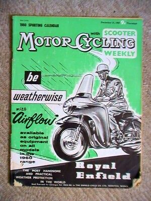 Motorcycling with Scooter Weekly magazine 31 December 1959 , Brough Superior