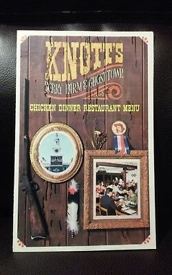 70s Knotts Berry Farm Chicken Dinner Restaurant Menu Nice and Clean