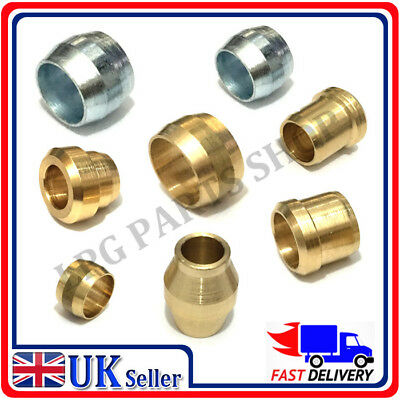 Brass Compression Olives set of 3 barrel plumbing Tube Pipe Olive Metric lpg gas