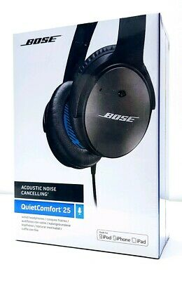 Bose QuietComfort 25 Wired Acoustic Noise Cancelling Headphones - Black. New