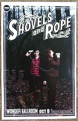 SHOVELS AND ROPE Gig POSTER Oct. 2013 Portland Oregon Concert