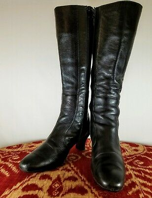 17b49273ccc Camper (45679) Black Side Zip Knee High Boots - Womens US 6.5 - Made