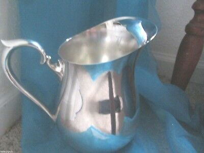 F B Roger Silver Plate Water Tea Pitcher With Ice Lip Nice Condition Lot # V