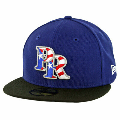brand new a48d3 68f29 New Era 59Fifty Puerto Rico Fitted Hat (Dark Royal Black) Men s Cap