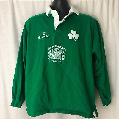 fbf3469298d Vintage Mens Guinness Six 6 Nations Rugby Shirt Polo S Long Sleeve.