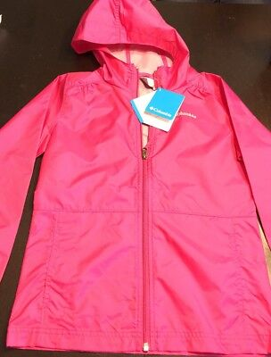 bfde0fbb0 Columbia Girls Slippery Slope Pink Rain Jacket Youth Extra Large NWT