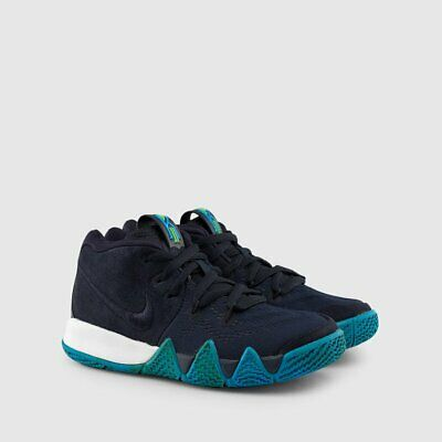 premium selection e352b abfe3 NIKE KYRIE 4 PS Size 3Y Womens 4.5 US Dark Obsidian Navy Blue White AA2898  401