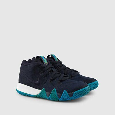 premium selection 5218b 66e7a NIKE KYRIE 4 PS Size 3Y Womens 4.5 US Dark Obsidian Navy Blue White AA2898  401