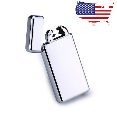 Electric Lighter Dual Arc USB Rechargeable Plasma Windproof Flameless Cigarette
