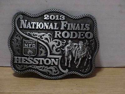 2013 Hesston National Finals Rodeo Small Belt Buckle Wrangler Series Free Ship