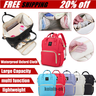 Waterproof Mummy Nappy Diaper Bag Large Capacity Travel Backpack with Handle AG