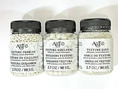Art C Set of 3 Textures, Sand, Pebbles, and Boulders