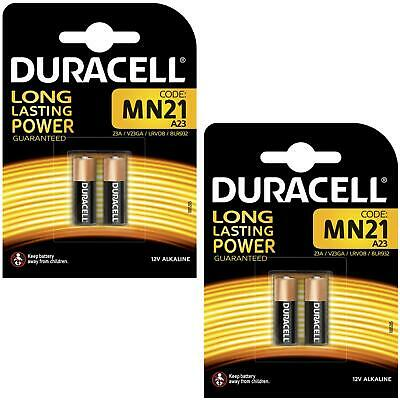 4 x Duracell MN21 A23 12V Alkaline Battery Single-Use 23A LRV08 23a V23GA 8LR932