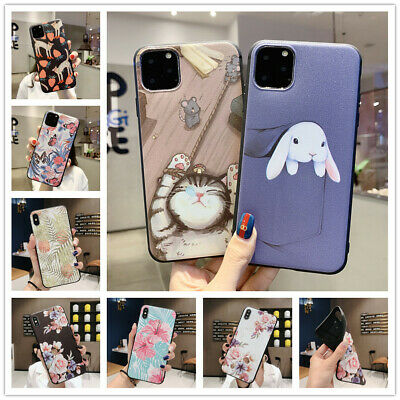 For iPhone 11 Pro MAX XS XR 8 7 6S Case Matte Pattern Soft Silicone Bumper Cover