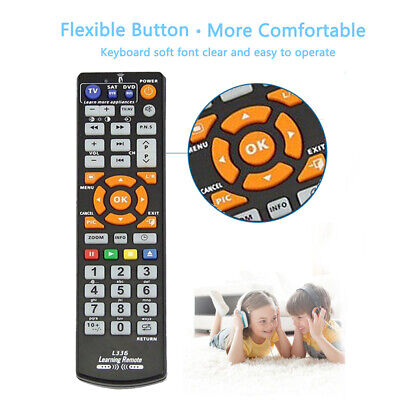 Smart Remote Control Black Controller Universal With Learn Function For TV CBL