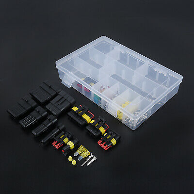 Waterproof Car 1/2/3/4/5/6Pin Way Wire Electrical Connectors Terminal Fuses Kit