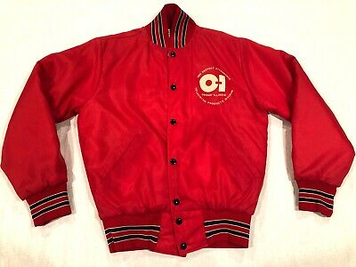 Vtg Owens Illinois Television Products Division Jacket 1980 Perfect Attendance
